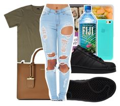 """""""Untitled #328"""" by lowkey-jessel on Polyvore featuring DKNY and adidas"""
