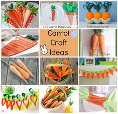 Carrot Craft Ideas - Easter Fun w/ Carrots at ALittleClaireification.com  #crafts #DIY #Easter
