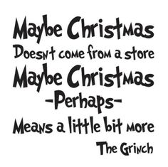 Christmas Holiday STENCIL 12x12 Grinch Quote for primitive sign crafts scrapbook