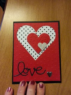 Stacked Hearts Valentine's Day Card