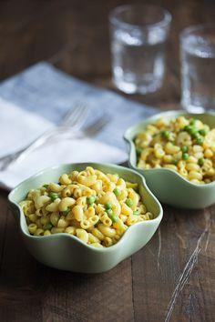 Easiest Vegan, Gluten Free Mac n' Cheese + Peas