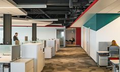Fusion Design Consultants designed the new offices of the largest Japanese pharmaceutical company, Takeda Pharmaceuticals, located in Cambridge, Linear Lighting, Lighting Design, Fusion Design, Open Office, Workplace Design, Stylish Office, Extruded Aluminum, Office Lighting, Light Architecture