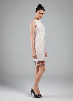 Vestido: Organza Lalique e Veludo de Malha Paetê Jolie #velvet #veludo #paete #organza #chique