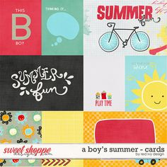 A Boy's Summer - Cards by Red Ivy Design
