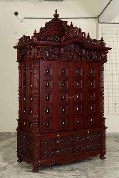 Indian Spiritual Teak Wood Pooja Mandir for Home In USA, Make to Order, 280814_3085
