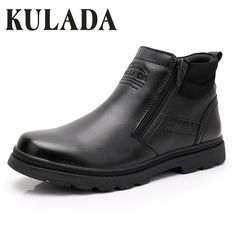 0ae900d946 Find More Snow Boots Information about KULADA Hot Sale Men Leather Ankle  Boots Handmade Outdoor Winter