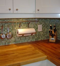 awesome tile, awesome butcher block