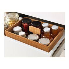 VARIERA Kasten mit Griff IKEA Erleichtert Übersicht und Zugriff auf Lebensmittel und anderes in Schubladen.