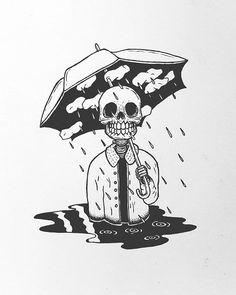 Tattoo Sketches 632263235175587854 - Source by Dark Art Drawings, Cartoon Drawings, Ink Drawings, Tattoo Sketches, Drawing Sketches, Kunst Tattoos, Art Tattoos, Umbrella Art, Skeleton Art