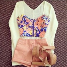 Spring outfit. I don't know how I feel about the shoes though. What do you all think? Follow me! (: