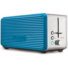 TEAL Bella Linea Collection 4-Slice Toaster Made of Durable Metal and Features Extra-wide Slots with Self-Centering Guides and a High-Lift Lever, Anti-jam with auto shut-off, Metallic Painted Side Panels - http://sleepychef.com/teal-bella-linea-collection-4-slice-toaster-made-of-durable-metal-and-features-extra-wide-slots-with-self-centering-guides-and-a-high-lift-lever-anti-jam-with-auto-shut-off-metallic-painted-side-pan/