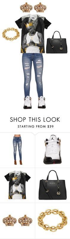 """""""King tupac"""" by liveitup-167 ❤ liked on Polyvore featuring Bullhead Denim Co., MICHAEL Michael Kors, Juicy Couture and Adele Marie"""