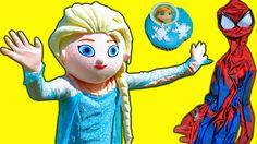 Frozen Elsa Cupcakes Stolen! Spiderman vs Joker w/ Frozen Elsa vs Frog i...