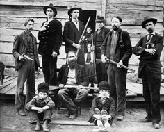 The Hatfield clan in 1897 (West Virginia) vs The McCoys (Kentucky). This is my family right here y'all :)