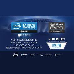 Między 12 a 15 marca 2015 w Katowicach odbędą się Mistrzostwa Świata gier komputerowych Intel Extreme Masters.  Wszyscy fani e-sportu powinni odwiedzić halę w Katowicach.  #esport #intel #expo #targi #reklama #marketing #internet