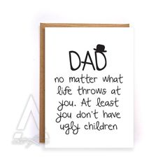 Fathers Day Card From Kids Funny Greeting Cards Birthday