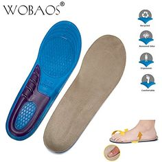 1dcf21a5eeb WOBAOS Memory Foam Orthopedic Silica Gel Shoe Insole Sport Running Athletic  Basketball Shoe Insoles Pads Inserts