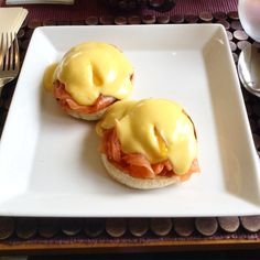 A delicious breakfast at Fishmore Hall! Eggs Royale