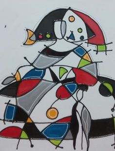 CUADRO MENINA (BACB112) Time Painting, Abstract Faces, Joan Miro, Scrappy Quilts, Whimsical Art, Art Plastique, Public Art, Portraits, Contemporary Artists