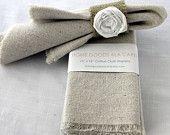 Cloth Napkins Unbleached Cotton Set of 8. 32.00, via Etsy.
