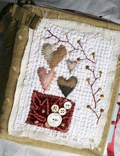 Art Quilt Journal (4 hearts)