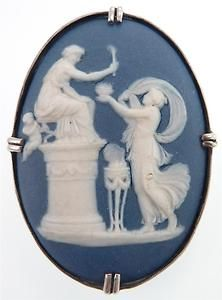 Antique Victorian Jasperware Wedgwood Cameo Silver Brooch   eBay