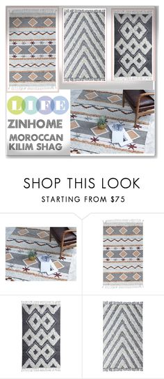 """Moroccan Kilim Shag Rugs"" by zinhome ❤ liked on Polyvore featuring interior, interiors, interior design, home, home decor and interior decorating"