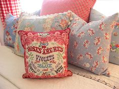 Vintage fabric pillows