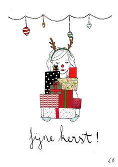 Kerstkaart cadeautjes // presents / Christmas card - Lot Bouwes // Lot Bo