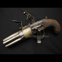 7 BARREL FLINTLOCK PISTOL BY G. TURNER OF DUBLIN