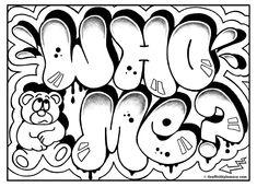 graffiti coloring page, free printable graffiti room signs