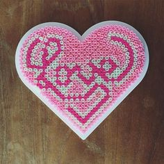 Love hama beads by shortlife … Melty Bead Patterns, Pearler Bead Patterns, Perler Patterns, Beading Patterns, Perler Bead Templates, Hama Beads Design, Peler Beads, Fusion Beads, Iron Beads