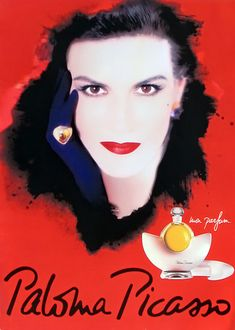 The perfume created by Paloma Picasso - the daughter of the famous painter. This a fragrant self-portrait. Her maternal grandfather was a perfumer, so, . St Jerome, Perfume Ad, Perfume Bottles, Vintage Perfume, Pablo Picasso, Picasso Pictures, Popular Perfumes, French Fashion Designers, Girls Dream