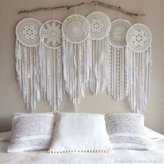 Massive giant 6 piece hoop pure white crochet dream catcher one of a kind creation, Whimsical Dreamcatcher Photo Backdrop, Wall Mural Hand Made – Wall Hanging Giant Dream Catcher, Dream Catcher Boho, Dream Catchers, Dream Catcher Bedroom, Dream Catcher White, Dreamcatcher Crochet, White Dreamcatcher, Dreamcatchers Diy, Deco Boheme