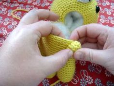 Amigurumi Lessons :: Attaching Limbs Pt 2 - Using a Safety Eye as a Doll Joint