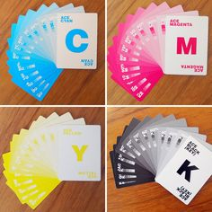 These CMYK playing cards are perfect for the designer in your life.