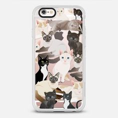 Cat pattern -  protective iPhone 6 phone case in Clear and Clear by Marta Olga Klara | Cats are more than just a pet! >>>  https://www.casetify.com/product/cats---cat-pattern--/iphone6s/new-standard-case#/177607 | @casetify