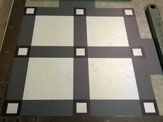 150mm tile, with Inset key design, plus strip to match.#marmoleum #debruyn #design