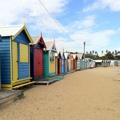 Little huts at the beach