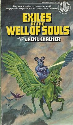 Jack L. Exiles at The Well of Souls. Pulp Fiction Book, Science Fiction Books, Fiction Novels, Fantasy Book Covers, Fantasy Books, Fantasy Art, Cool Books, My Books, Book Cover Design