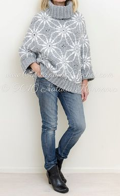 New Crochet Pattern is posted - Polar Star Poncho Sweater.