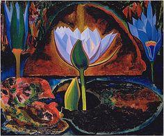 Lotus by Joseph Stella, 1929  (Painting - more in collections)