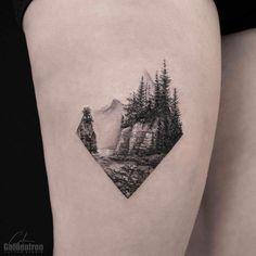 "2,022 Likes, 34 Comments - ⭕️Golden Iron Tattoo Studio⭕️ (@goldeniron_tattoos_toronto) on Instagram: ""Landscape by Calvin.  @grxsy  #goldenirontattoostudio #teamgoldeniron #thefineartfactory"""