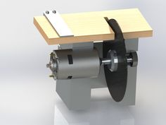 A small table saw made from an old drill motor. perfect to cut circuit board Metal Working Tools, Metal Tools, Wood Tools, Diy Tools, Must Have Woodworking Tools, Woodworking Tools For Beginners, Diy Woodworking, Cad 3d, Sliding Table Saw