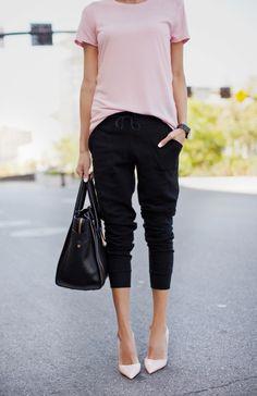 Hello Fashion: A Basic Tee 4 Ways from Flats to Heels