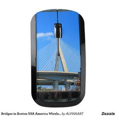 Bridges in Boston USA America Wireless Mouse