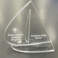 A Quick Laser Cut Sailing Trophy