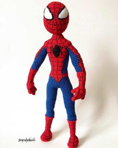 Amigurumi spiderman free crochet pattern is waiting for you in this article with all the details. You can find everything about Amigurumi on our website. Crochet Gratis, Crochet Amigurumi Free Patterns, Crochet Dolls, Free Crochet, Crochet Baby Booties, Amigurumi Doll, Stuffed Toys Patterns, Single Crochet, Female Cat