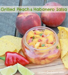 Grilled Peach and Habanero Salsa. Yummy on chicken, pork, or fish. Of ...