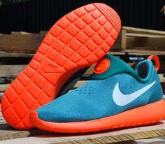 Nike Roshe Run Slip On–Teal-Orange